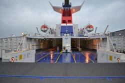 Image of a deck on a Stena Line freight ferry