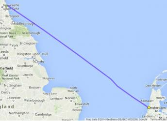 newcastle to ijmuiden freight route