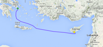 greece to cyprus