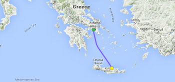 greece to heraklion